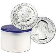 2015 Atb Kisatchie Silver 5 Oz 25c - Bu - 10 Coins In Mint-issued Tube