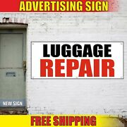 Luggage Repair Banner Advertising Vinyl Sign Flag Bags Shoes Service Fast Fix 24