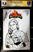 Mighty Morphin Power Rangers 1 Cgc Ss 9.8 Boom Variant Sketch Signed Mciver..