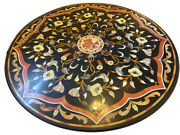 42 Marble Table Top Semi Precious Stone Floral Inlay Work Home Decor