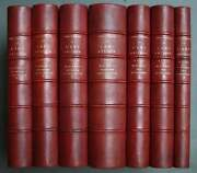 Chefs Dand039oeuvre Of Art Antique 1867 Binding Semi Leather Red Many Prints