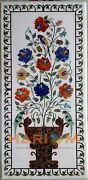 24and039and039x48and039and039 Marble Parrot Floral Design Dining Table Top Hallway Inlay Decor W226