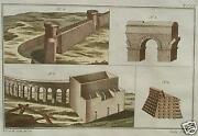 Rome Limes Aqueduct Castle Tower City Wall Fortress Rummer Antique Wall