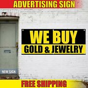 We Buy Banner Advertising Vinyl Sign Flag Gold Jewelry Pawn Shop Cash Coins Best