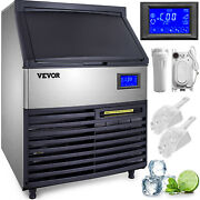 440lbs Ice Maker Ice Cube Making Machine 200kg /24h Commercial 77lbs Ice Storage