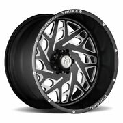 Four 4 22x12 American Truxx Forged Aries Et -44 Matte Black Milled 8x165