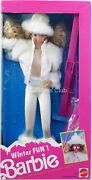 Winter Fun Barbie Doll 5949 New Never Removed From Box 1990 Mattel Inc.