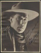 1922 William S. Hart Hollywood Cowboy Star Signed Vintage Photograph