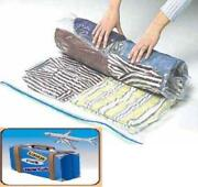 24 Pack Space Saver Storage Travel Roll Up Thick Compress Bags No Vacuum Needed