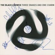 The Black Crowes Signed Three Snakes And One Charm Album Flat Beckett Bas Coa