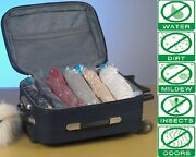 8 Pack Space Saver Storage Travel Roll Up Ziplock Compress Bags No Vacuum Needed
