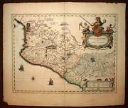 Map Geographic Old Mexico New Spain Per Blaeu 1640