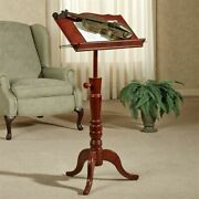 Aubrie Music Stand Adjustable Classic Cherry