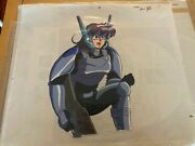 Gall Force Rabby Anime Cel With Sketch