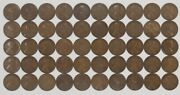 1924 S Lincoln Wheat Cent Penny 1c G - F Good To Fine Full Roll 50 Coins 2219b