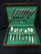 Holmes And Edwards Danish Princess Inlaid Is Silver Plate Flatware Place Set Of 8