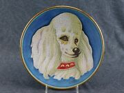 V Tiziano Poodle Plate 1539 Of 2000 Hand Painted Artist Veneto Flair C1973 Dog