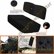 Black Seat Cover Set For 2011-2012 Kawasaki Mule 4000 And 4010 Diesel Se Cloth