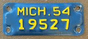 Michigan 1954 Motorcycle License Plate High Quality 19527