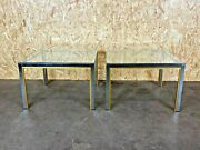 2x 60er 70er Willy Rizzo Coffee Table Side Table Couchtisch Chrome And Brass 60s