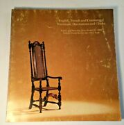 Vtg. Sothebyand039s Auction Catalog Englishfrench And Continental Furniture1980