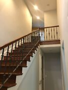 Mahogany And Wrought Iron Custom-made Staircase Banister For Your Home