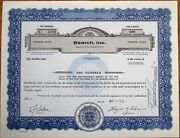 And039search Inc.and039 1975 Stock Certificate - Manchester Connecticut Ct Conn