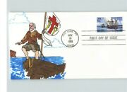 Hand Painted Christopher Columbus Columbus Landing In Puerto Rico 1 Of 1 Fdc