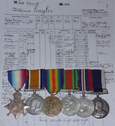 Wwi And Wwii Royal Navy Ls Group Six To Po Cook + Papers And Details