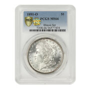 Finest Known 1891-o 1 Silver Morgan Pcgs Ms66 Pq Approved Illinois Set Dollar