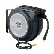 Eastwood 50ft Plastic Retractable Air Hose Reel Tool With Hybrid Flex Polymer Ho