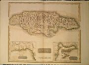 Extremely Rare Map Of Jamaica 1821 Genuine Frameable