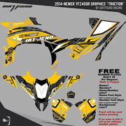 Dfr Traction Graphic Kit Yellow Sides/fenders 2014-newer Yamaha Yfz450r