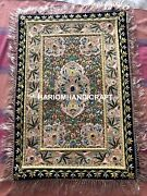 Exotic Handmade Jeweled Tapestry Wall Hanging Zardosi Indian Embroidered M108