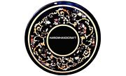 Fine Modern Arts Stone Marble Dinner Room Top Table Inlaid Marquetry Decor H5651
