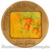 Israel 70mm Bronze Blossom Of Galilee My Beloved Is Mine State Medal
