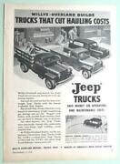 8x11 Original 1948 Jeep Ad Willys Overland Trucks That Cut Hauling Costs