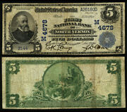 North Vernon In 5 1902 Pb National Bank Note Ch 4678 First Nb Fine