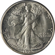 1935-s Walking Liberty Half Pcgs Ms65 Fantastic Luster Nice Strike Tough To Find