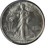 1943-s Walking Liberty Half Pcgs Ms66 Fantastic Luster Nice Strike Tough To Find