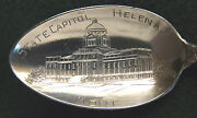 Sterling Souvenir Spoon Helena Mt State House 1900