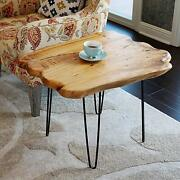 Natural Edge Coffee Table Small Hairpin Coffee Table Wood 28 L X 20 W X 20.5