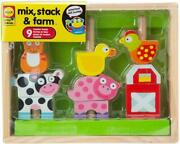 Alex Toys Mix Stack And Farm Wooden Bead Animal Stacking Toddler Toy 2 Years +