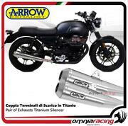 Arrow Pair Exhausts Pro-racing Stainless Steel Approved Moto Guzzi V7 Iii 2017/