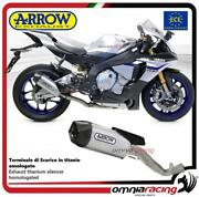Arrow Exhaust+not Cat Link Pipe Indy Race Titanium Approved Yamaha R1/r1m 15/