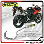 Arrow Full Exhaust Competition Titanium Steel Collect.honda Cbr 600 Rr Abs 09/12