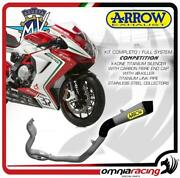 Arrow Full Exhaust Competition Titanium Collect.steel Mv Agusta F3 675 2012/2020