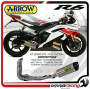 Arrow Full Exhaust System Competition Full Titanium For Yamaha Yzf R6 2012/2016