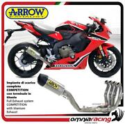 Arrow Full Exhaust Competition Titanium And Steel Collector Honda Cbr1000rr 17/