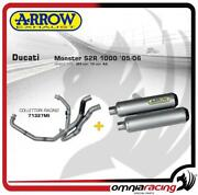 Arrow Full Exhaust Round-sil Titanium For Ducati Monster S2r 1000 2005/2006